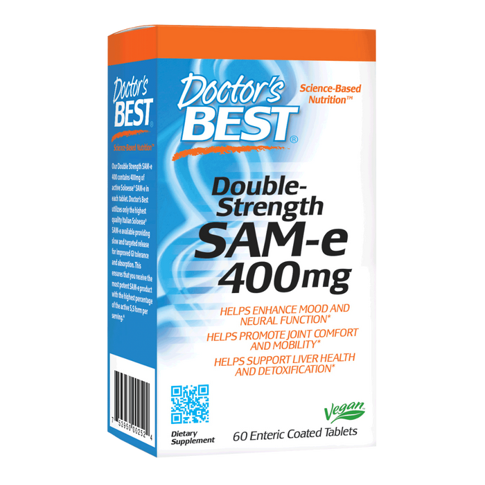 Doctor's Best, SAM-e 400 mg (60 Tablets)