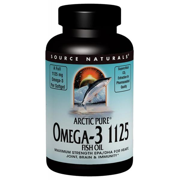 Source Naturals, ArcticPure Omega-3 1125 Fish Oil (120 Softgels)