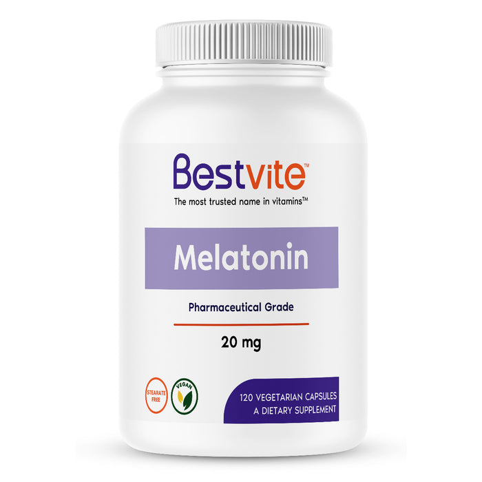 Melatonin 20mg (120 Vegetarian Capsules)