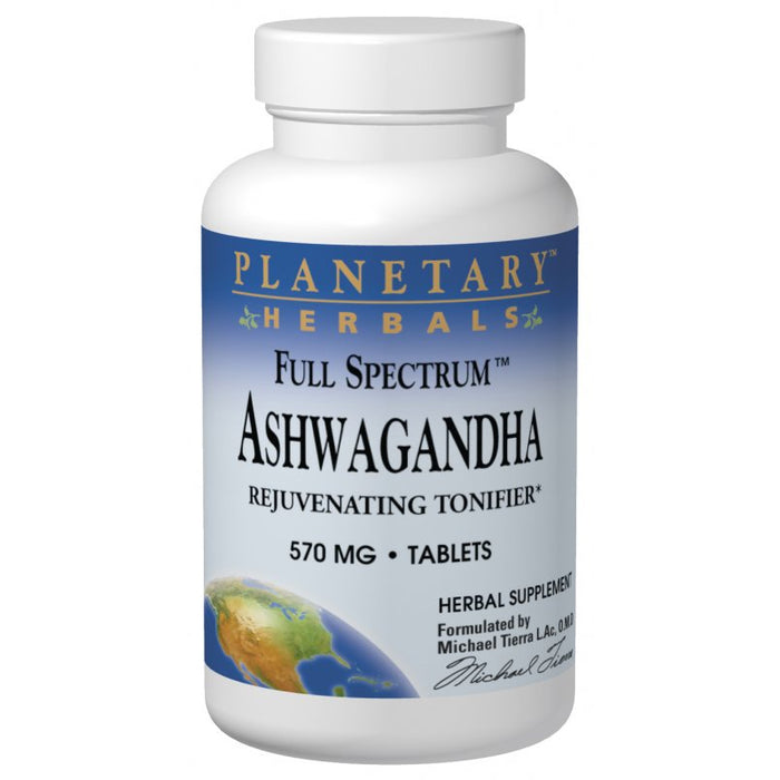 Planetary Herbals, Ashwagandha (Winter Cherry) Full Spectrum 570mg (120 Tablets)