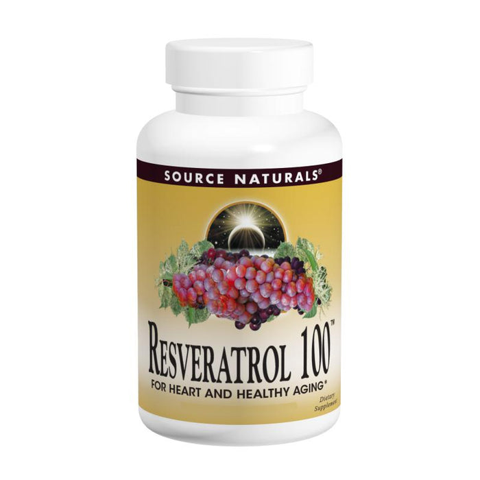 Source Naturals, Resveratrol 100 100mg (120 Tablets)