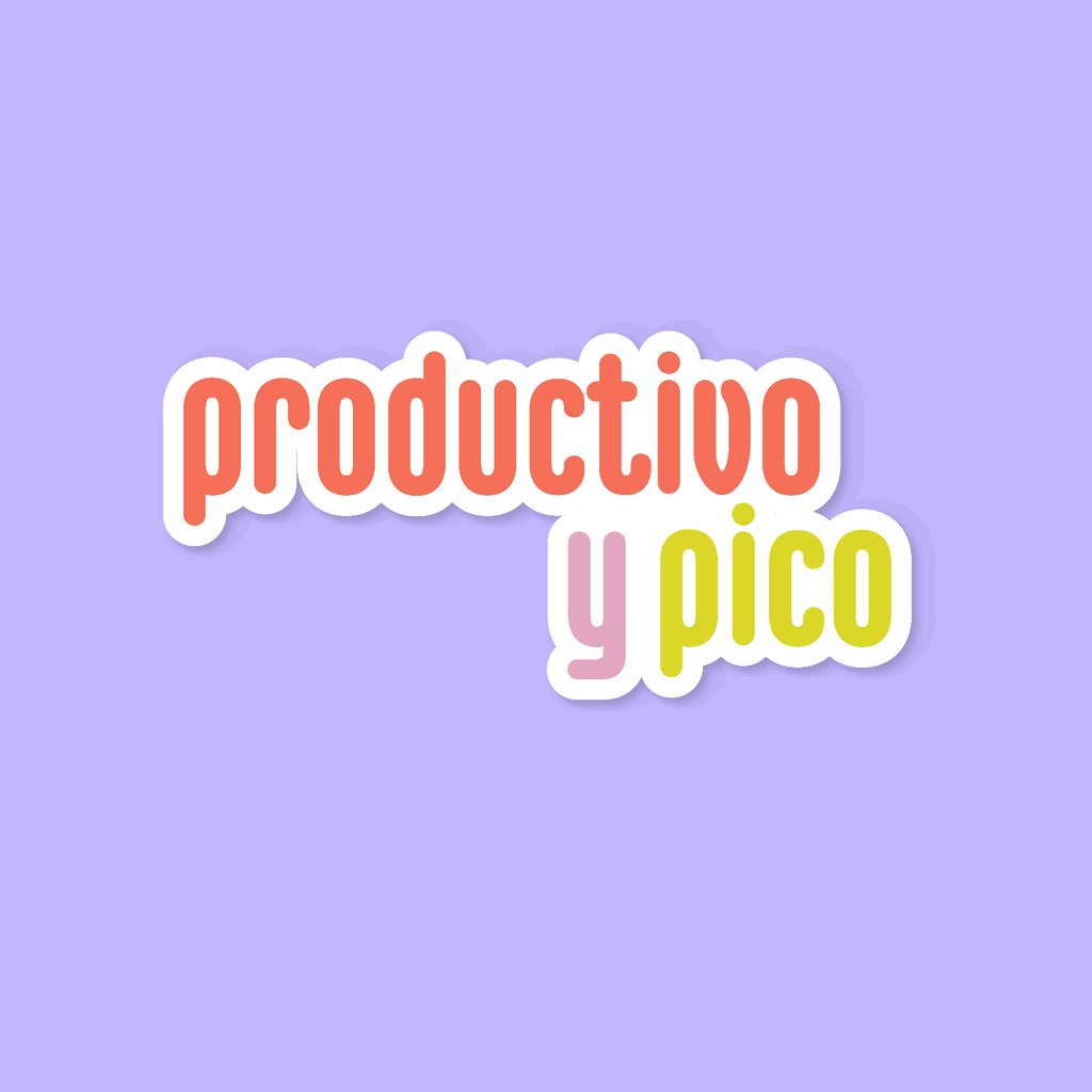 PRODUCTIVO Y PICO STICKER