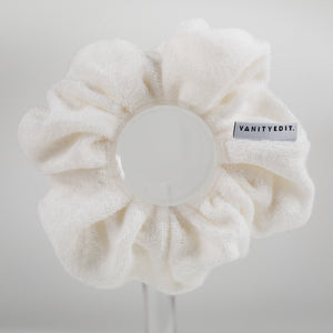 Eco Bamboo Scrunchie in Natural White