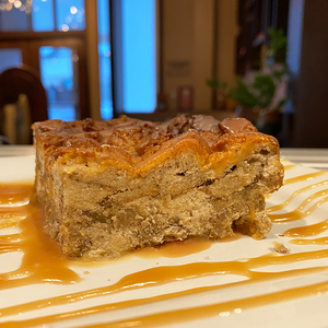 Bread Pudding with Caramel Sauce