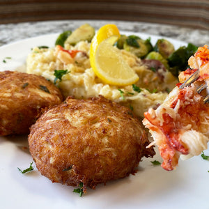 Crab Cakes with Lobster Mashed Potatoes