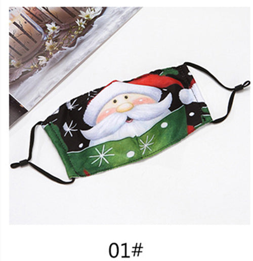 🌲🎅17 Colors 2020 Christmas Fabric Face Cover