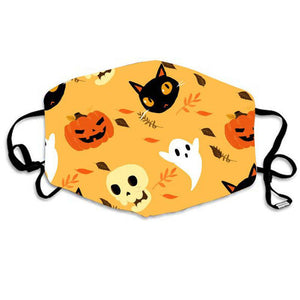 Halloween Unisex Face Masks Funny Pattern Windproof Mask