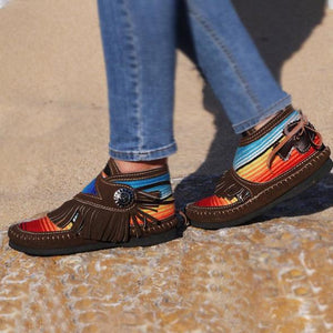 Cowgirl Leather Moccasins