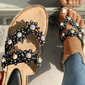 Susiecloths Studded Toe Post Flat Slipper
