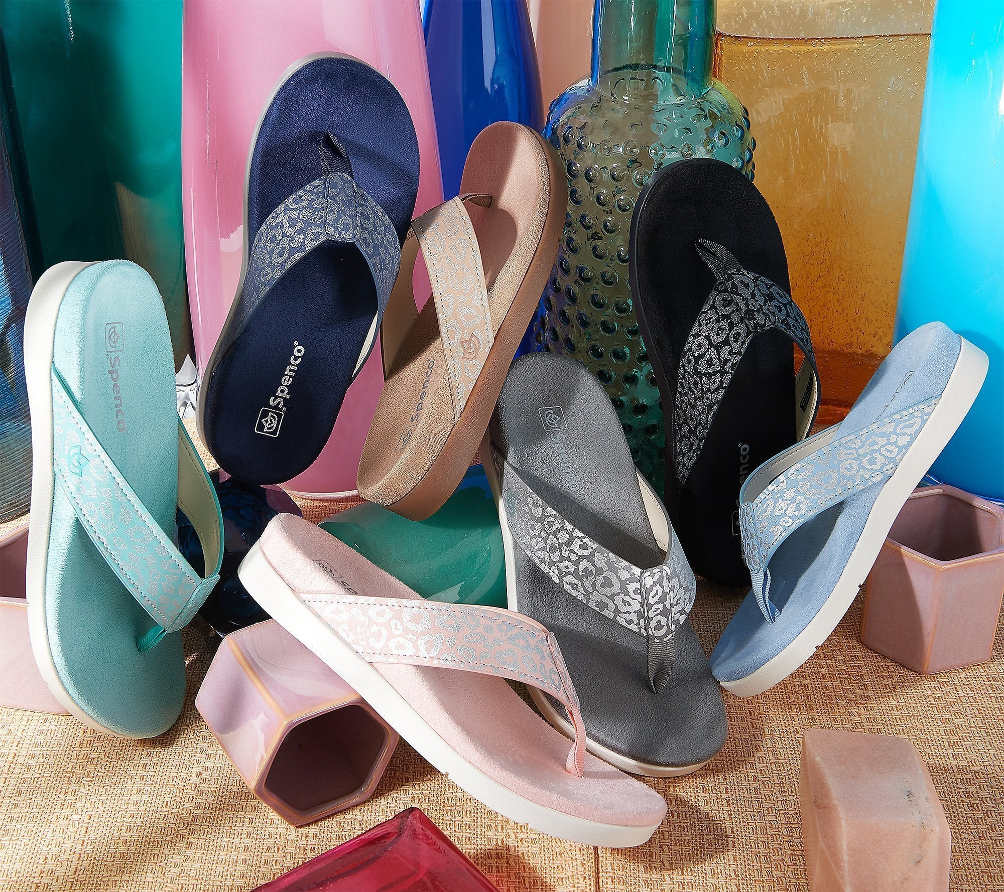 (Buy 3 Free Shipping) Spenco Orthotic Thong Sandals