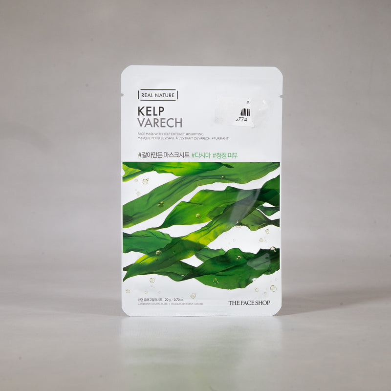 Real Nature - Kelp Sheet Mask 20g (1pc) by The Face Shop | Hydrates and Soften Skin