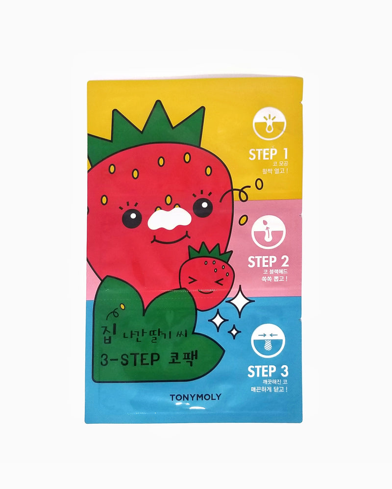 Homeless Strawberry Seeds 3 Step Nose Pack for Removing Blackheads - 1 Pack [6g] by TONYMOLY