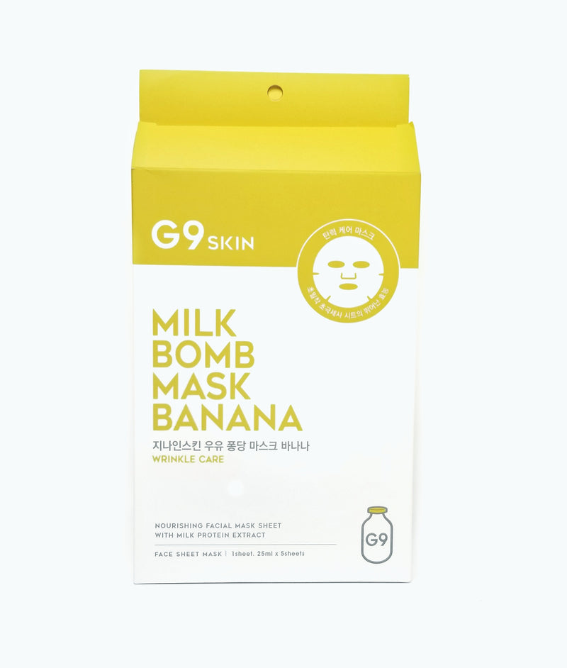 Milk Bomb Mask (4 Types) 5pcs [Banana] by G9SKIN for Skin Nourishing and Skin Soothing