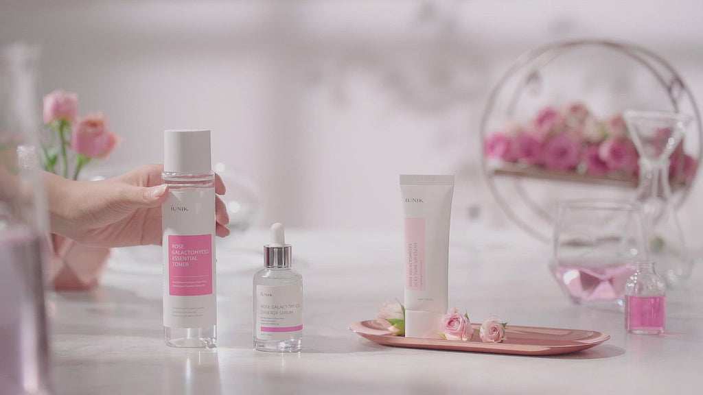 Stop And Smell The Roses - 3 Step Brightening Set that delivers hydration and oil control for sensitive oily and combination skin individuals video in Korean and English