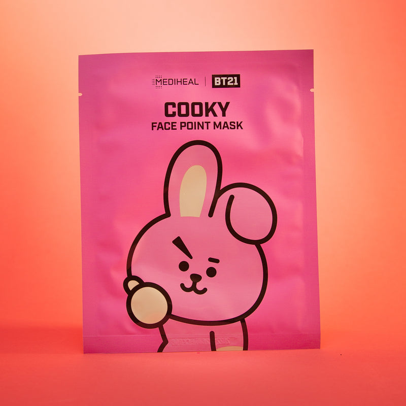 BTS BT21 Face Point Mask Set (7 Types) [COOKY] by Mediheal