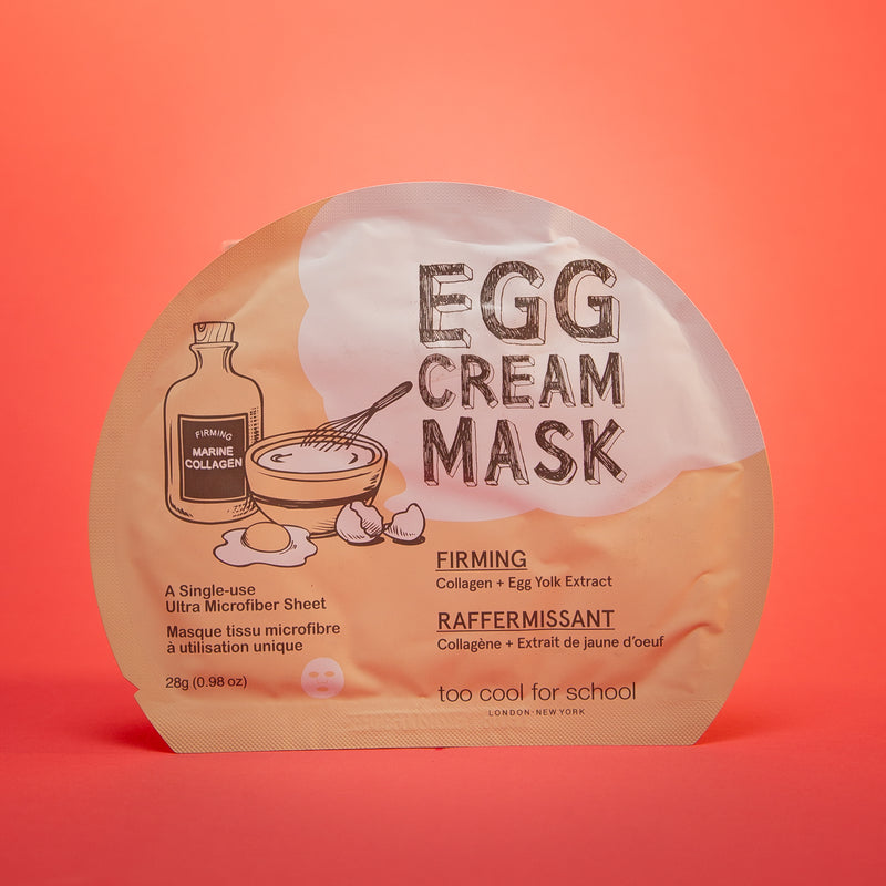 Egg Cream Mask - [Firming] 1 pack - by  Too Cool For School