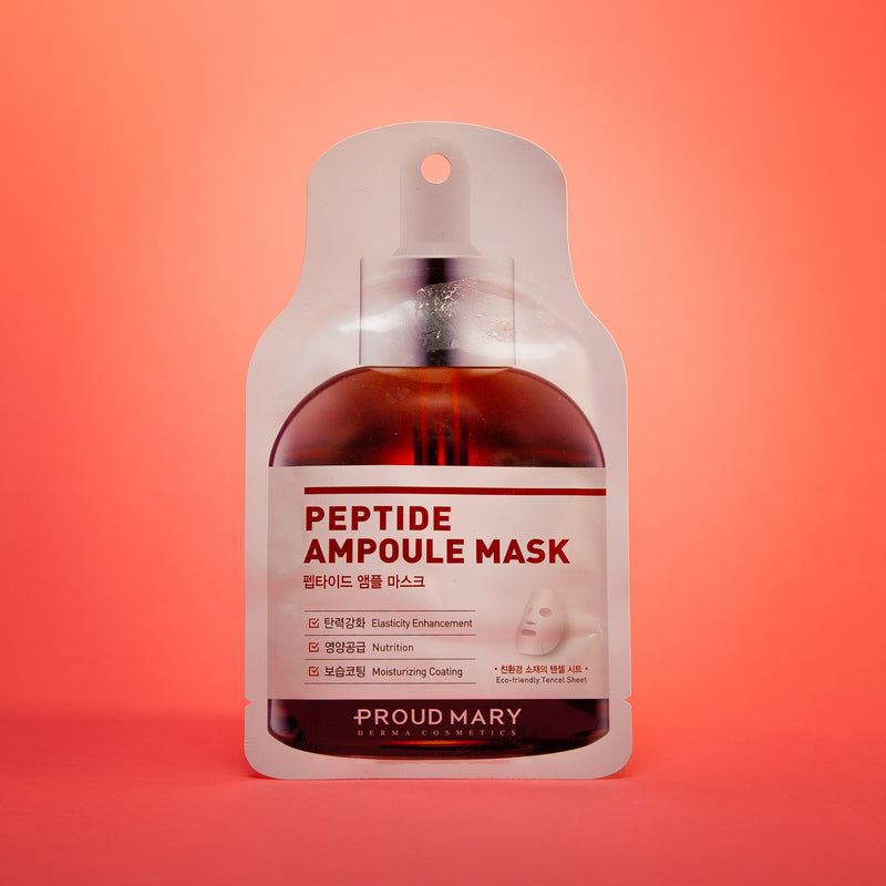 Ampoule Mask - 5 Types [Peptide] 25g per Sheet Mask by PROUD MARY for a Nourished and Elasticity Restored Skin