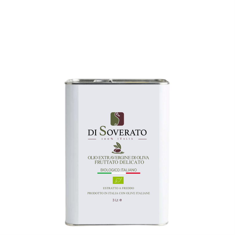 Delicate Fruity Organic Extra Virgin Olive Oil in Tin