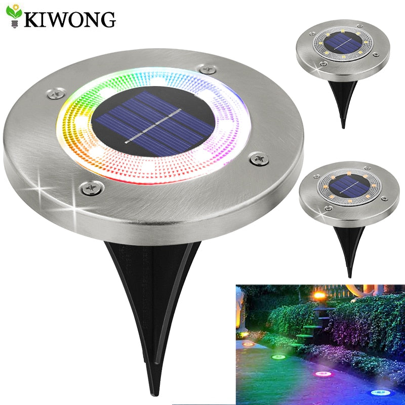Multi-Color LED Solar Outdoor Pathway Lights