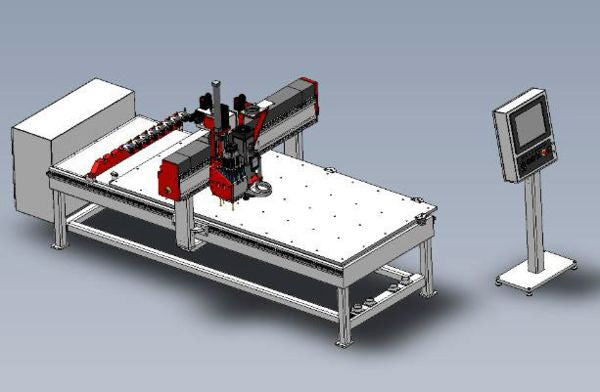 4 x 8 - 3 Axis - CNC Router -  DMS Freedom Patriot - 8-Position Automatic Tool Changer