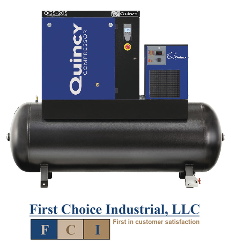 Belt Driven - 10 Hp Rotary Screw Air Compressor - Quincy QGS 20 S