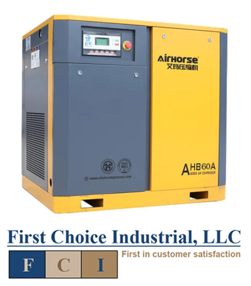 Belt Driven - 75 Hp Rotary Screw Air Compressor - Airhorse AHB-75A  Media 1 of 1