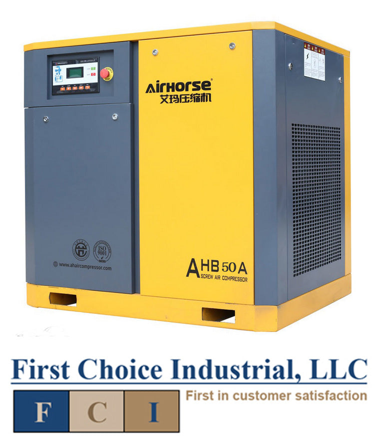 Belt Driven - 50Hp - Rotary Screw Air Compressor - Airhorse AHB-50A