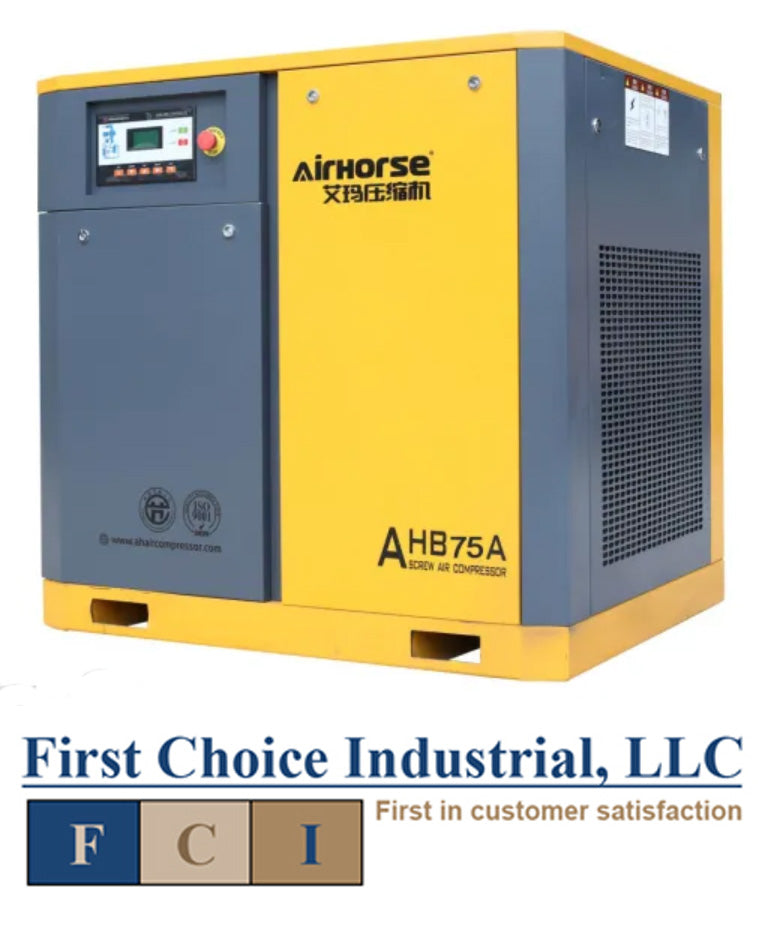 Belt Driven - 75 Hp Rotary Screw Air Compressor - Airhorse AHB-75A