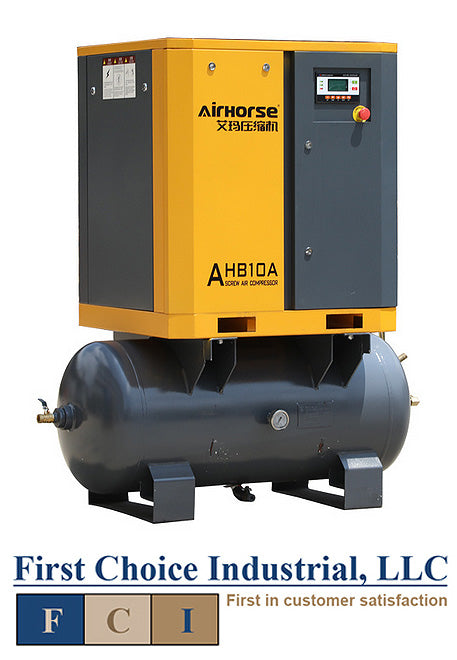 Belt Driven - 10Hp Rotary Screw Air Compressor - Airhorse AHB-10A