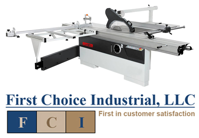 Cantek P305 - 1 Ph - 10ft Sliding Table Saw - First Choice Industrial