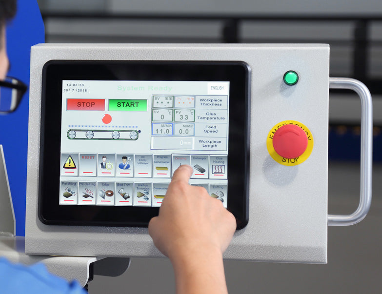 Cantek Touch Screen Control - MX570M Edgebander with PUR EVA Glue Pot