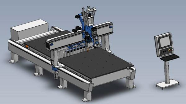 5' x 12' - 3 Axis - Flat Table - CNC Router - Made in USA - DMS Freedom Patriot