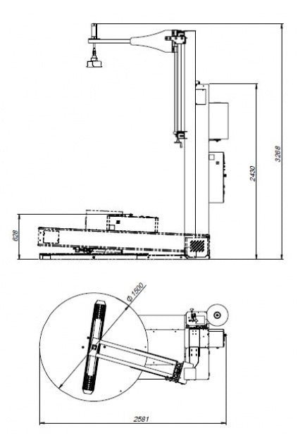 Edda Wraptor 1500 TP 3000 MB - Technical Drawings