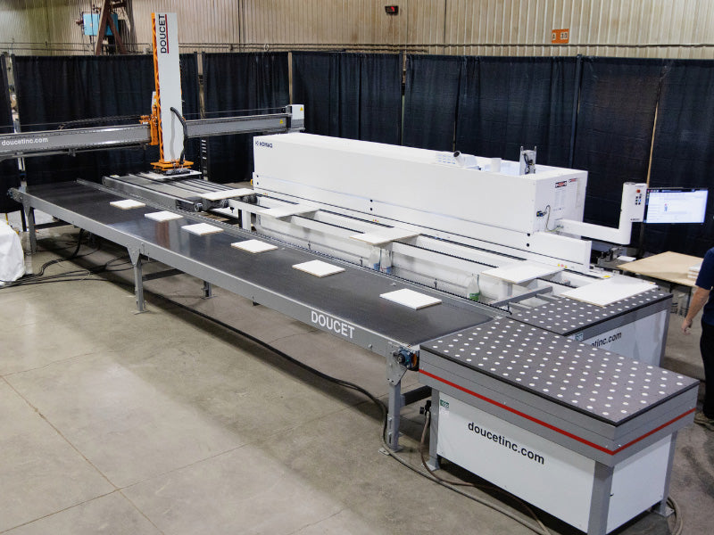 Intelligent Panel Return Conveyor System - Doucet Retyx