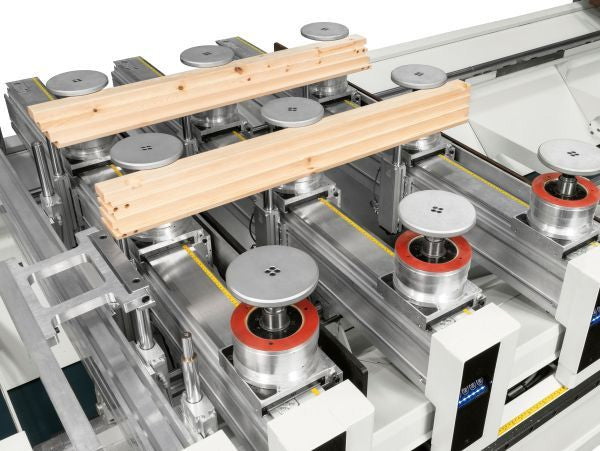 SCM Accord  FX Pod and Rail CNC Machining Center - PRISMA Machining Heads withMATIC bars worktable with direct transmission system and independent drive units