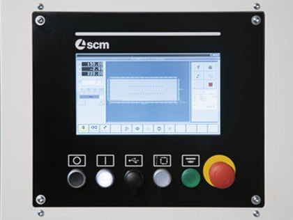 SCM Startrek CN-V - CNC Controlled - Vertical Drilling and Grooving - 32mm Machining Center - 10 Inch Touch Screen Control
