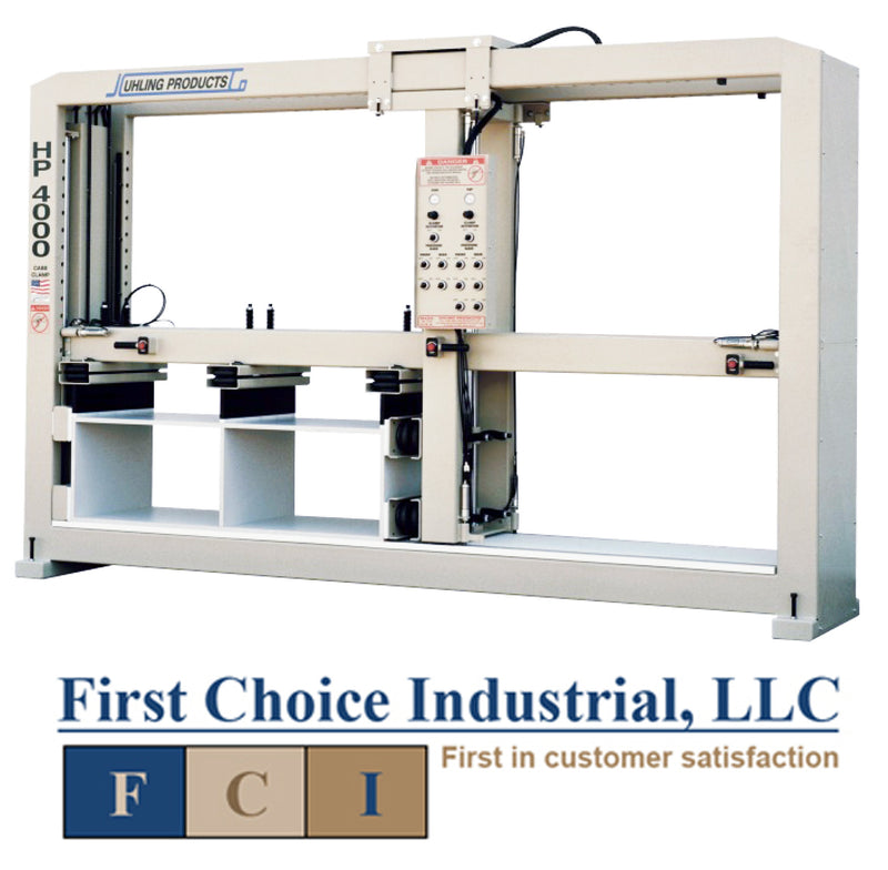 Uhling HP 4000 Case Clamp  - with Horizontal and Vertical Dual Pod Pressure Bars - First Choice Industrial Machinery