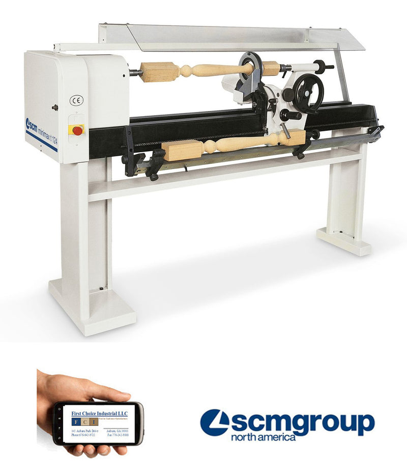 Wood Turning Copy Lathe - SCM MiniMax T124 - First Choice Industrial