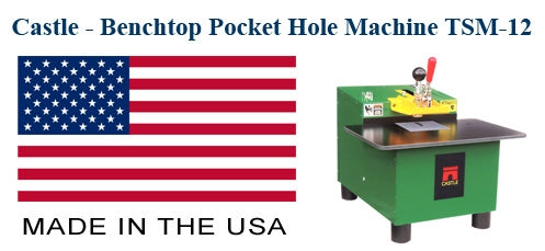 Castle Benchtop Pocket Hole Machine - Model: TSM-12 - Made in the Usa - Available from First Choice Industrial
