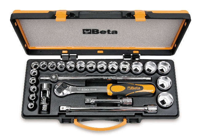 Beta Tools - 20 sockets and 5 accessories with metal case