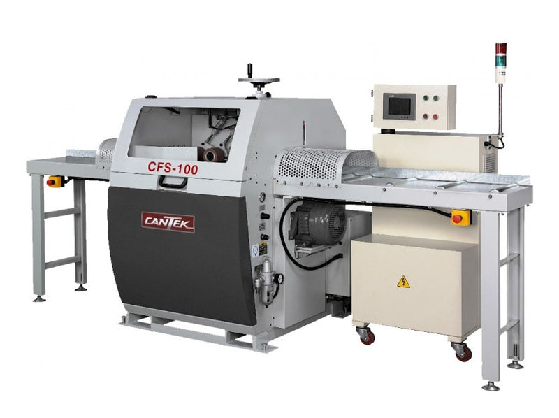 Cantek Automatic Optimizing Defect Cut-Off Optimizing Saw - Model CFS-100