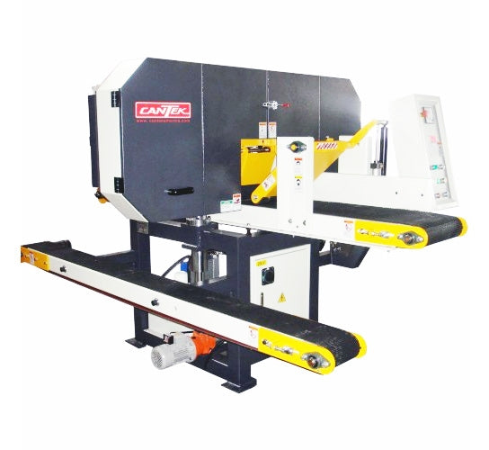 Cantek Single Head Horizontal Band Resaw - Model HR400PB - With 2 Inch Wide Wheel.