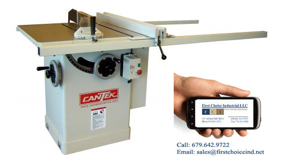 Cantek Tilting Arbor Table Saw - Model: TA12 - 5HP - 12 Inch - Photo 1