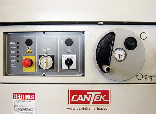 Contorl Panel Height Adjustment with Dial Indicator - Cantek Shaper - Model SS512CB - 7.5 HP.