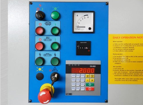 Control Panel with Digital Thickness Control - Cantek - 25 Inch Wide Belt Sander - Model C251