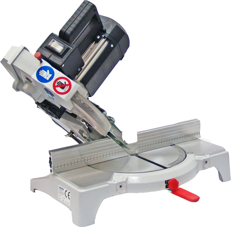 Omga 1L 300 12 Inch Compound Mitre Chop Saw - Tilted Head Detail Photo 1