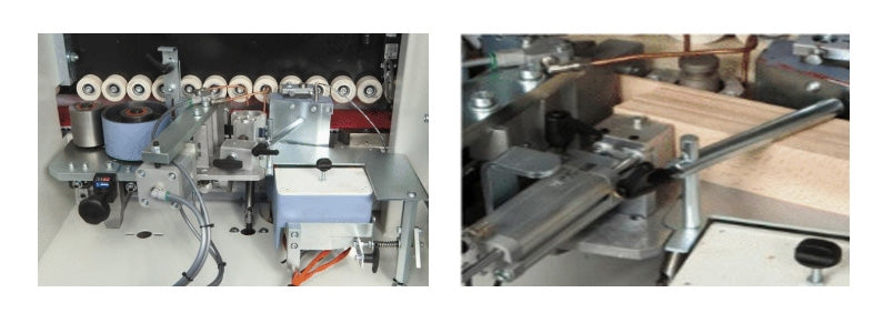 SCM Olimpic K 230E EVO Edgebander - Pressure Section And Automatic Strip Magazine