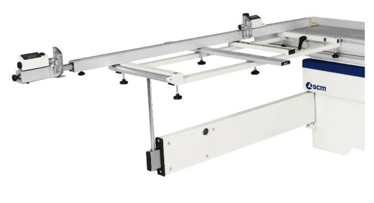 SCM SI 400 EP Nova Sliding Table Saw - Squaring Fence with Swival Pivoting Outrigger
