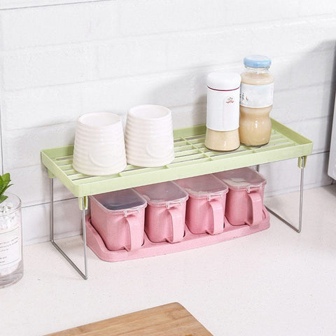 Green - Kitchen Storage Organizers/ Storage Shelf Kitchen/ Kitchen Cabinet Shelves