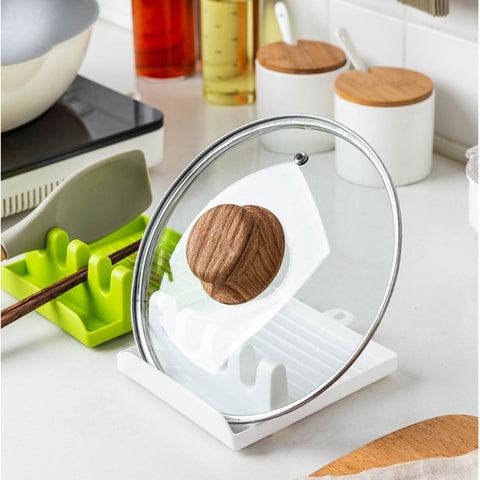 Eco-Friendly Silicone Spoon Rest & Pot Lid Holder